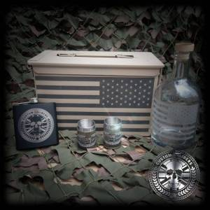 50 Cal Ammo box whiskey set