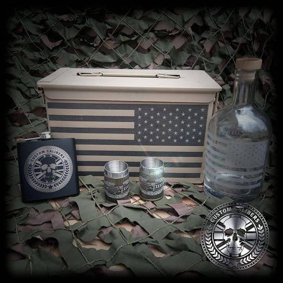 50 Cal Ammo Box Whisky Gift Set