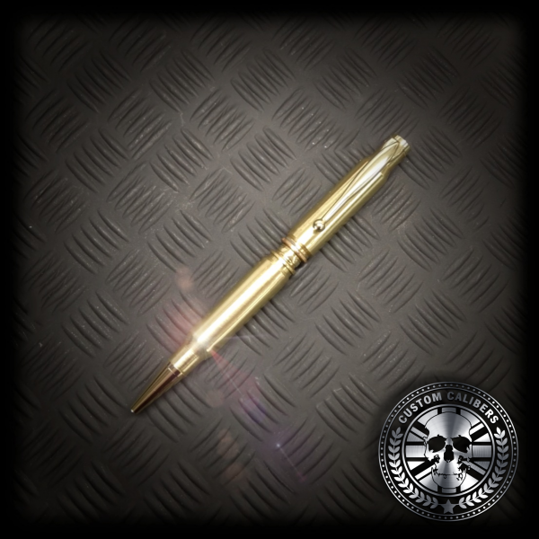 Here we have another image of our golden pen with black metal background