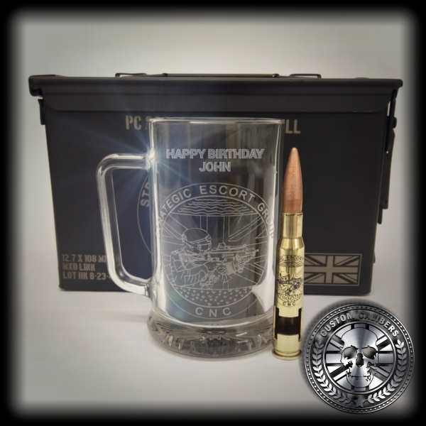 Our Strategic Escort group glass bullet and strongbox