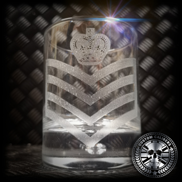 a close up of our custom engraved glass tumbler