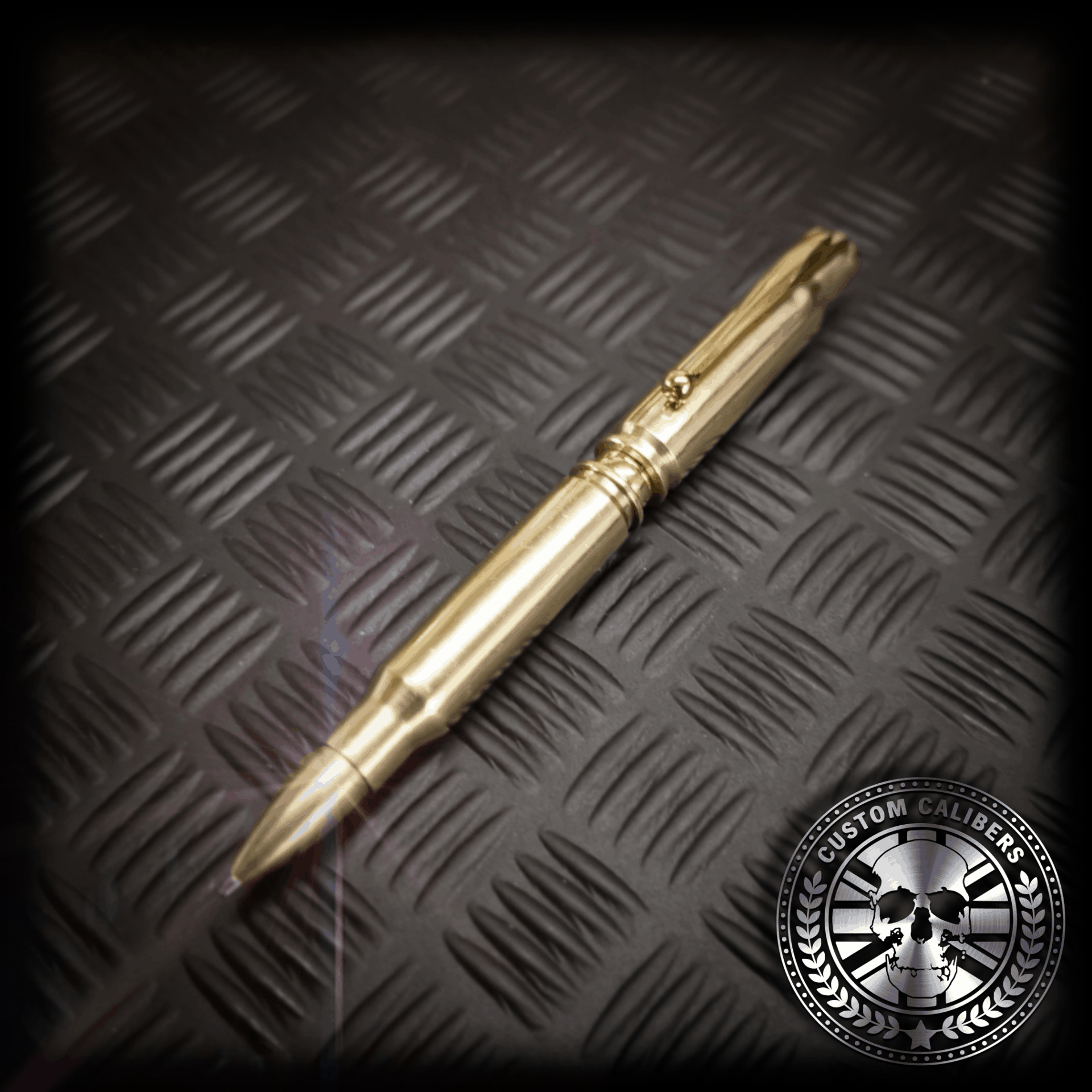 The full metal jacket 308 bullet pen in polished brass