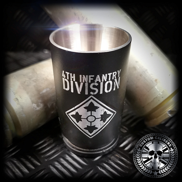a close up of our A10 warthog shot glasses with custom laser engraving