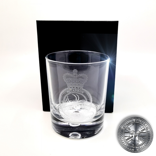 another laser etched whisky tumbler with a silk lined gift box